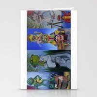 muppet Stationery Cards featuring Muppet Stretching Room Portraits by Lissyleem