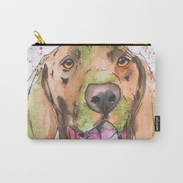 Happy Hunting Dog Pointer art Carry-All Pouch
