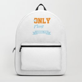 The Only Flag I Kneel For Fishing Fishing Rod Fisherman Fish Lovers Gifts Backpack