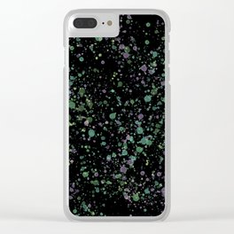 Splats Clear iPhone Case