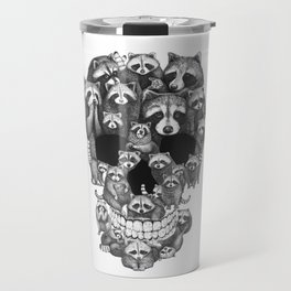 Skull from raccoons Travel Mug