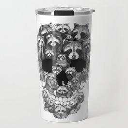 Skull from raccoons Travel Mug