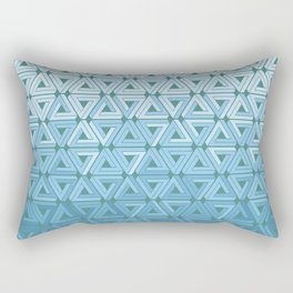 Glacial Air Geometric Rectangular Pillow