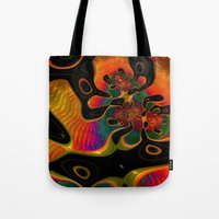 trippy Tote Bags featuring Trippy by Amanda Moore