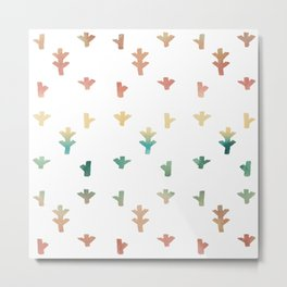 Colorful Boho tree pattern Metal Print