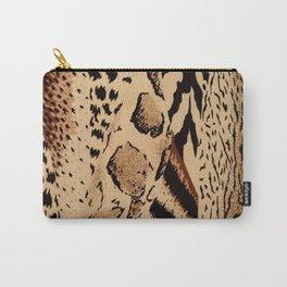 wildlife brown black tan cheetah leopard safari animal print Carry-All Pouch
