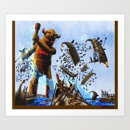 the Bronze Colossus Art Print