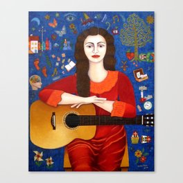 "Violeta Parra - ""Thanks to Life "" Canvas Print"