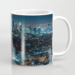 Los Angeles Skyline By Night United States Ultra HD Coffee Mug