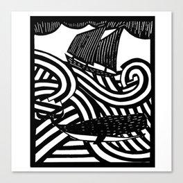 Herman - Paper Cut Illustration. 2015 Canvas Print