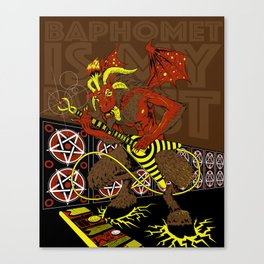 BAPHOMET IS MY BASSIST Canvas Print