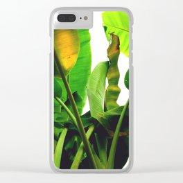 p a l m s Clear iPhone Case