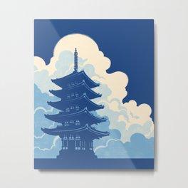 Nara Skyline Metal Print