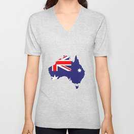 Australia Flag Map Unisex V-Neck