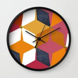 KALEIDOSCOPE 02 #HARLEQUIN Wall Clock