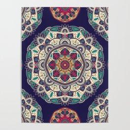 Colorful Mandala Pattern 007 Poster