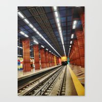 subway Canvas Prints featuring Subway by Diana Cretu