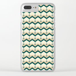 Vintage Anchor Summer Pattern Clear iPhone Case