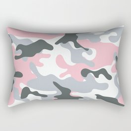 Pink Army Camo Camouflage Pattern Rectangular Pillow