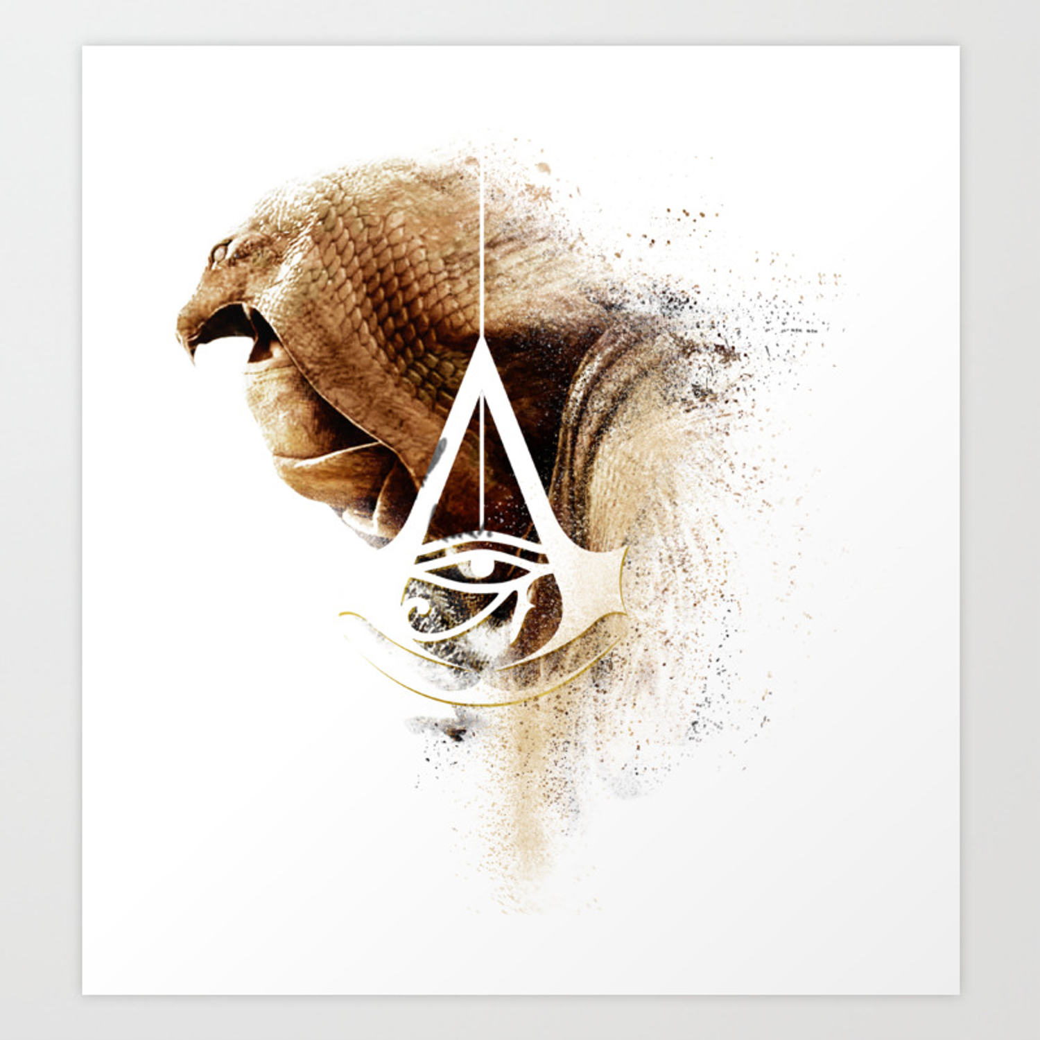 Assassins Creed Bayek Sands Print Art Print By Bergmandesignstudio Society6
