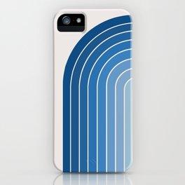 Gradient Arch - Blue Tones iPhone Case
