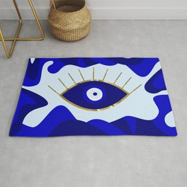 Lava All Seeing Evil Eye Rug