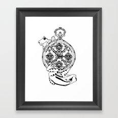 Frog Watch Framed Art Print
