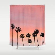 Blushing Palms Shower Curtain