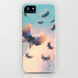 Happiness is a butterfly iPhone Case