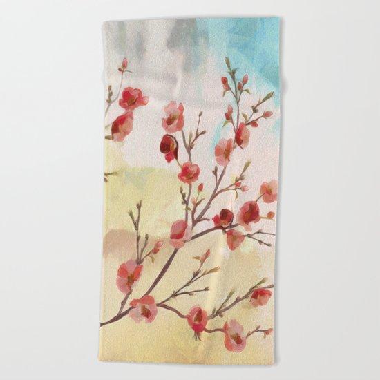 Cherry Blossom - Variation 2 Beach Towel