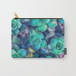 Cactus & Butterflies Carry-All Pouch