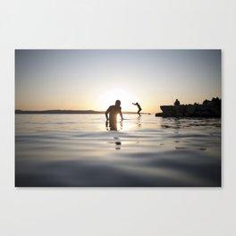 Exit sea Canvas Print
