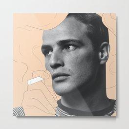 Smoking Marlon Metal Print