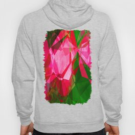 Pink Roses in Anzures 1 Abstract Polygons 1 Hoody