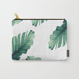 Tropical Banana Leaves Dream #5 #foliage #decor #art #society6 Carry-All Pouch