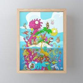 What lies beneath the ocean? Framed Mini Art Print