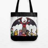 dungeons and dragons Tote Bags featuring DUNGEONS & DRAGONS by Zorio