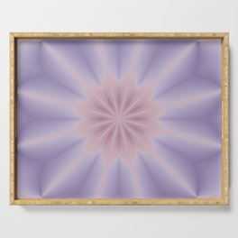 Pink and Lilac 3D Flower Three Serving Tray