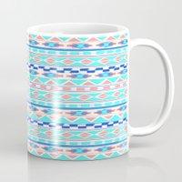 navajo Mugs featuring ACQUA NAVAJO by Nika