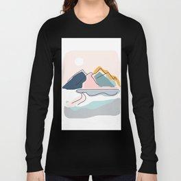 Minimalistic Landscape Long Sleeve T-shirt