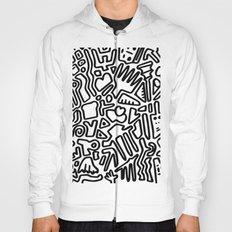 black & white doodle Hoody
