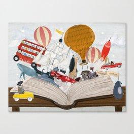 the big magic adventure book Canvas Print