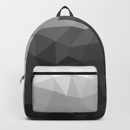 Low polygon monochromatic minimalism Backpack
