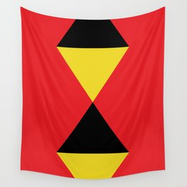 Other Rhombuses, one on another, floating in a red sea. Wall Tapestry