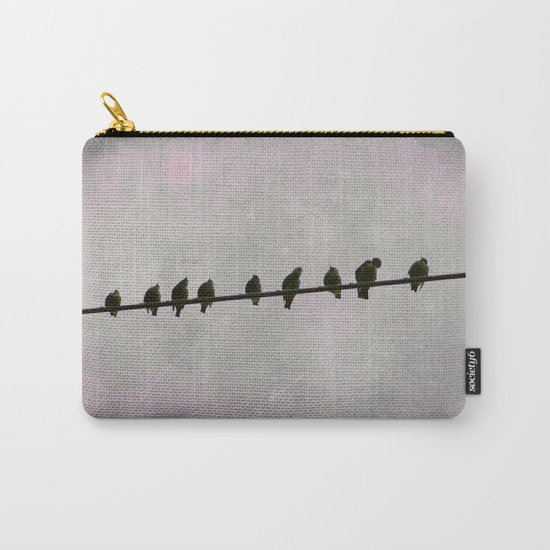 9 Birds on a Wire Carry-All Pouch