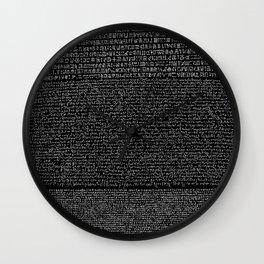 Pierre de Rosette  / Rosetta Stone Wall Clock