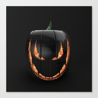 pumpkin Canvas Prints featuring pumpkin by Duitk
