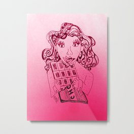Chocolate, a girls best friend Metal Print