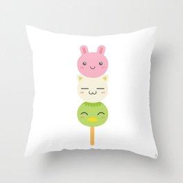 Dango~~ Throw Pillow