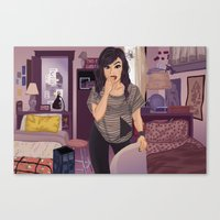 carmilla Canvas Prints featuring Carmilla by Carla Griffin